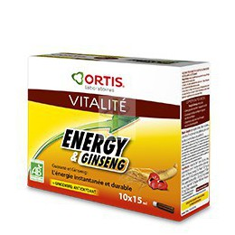 ENERGY & GINSENG - 10 unidoses - Ortis