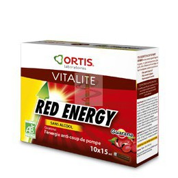 RED ENERGY - BIO - SANS ALCOOL - 10 unidoses - Ortis